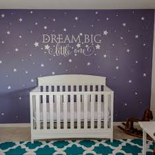 56cm 27cm dream big little one quotes wall decal nursery wall sticker baby nursery bedroom art decor kids wall sticker stars in wall stickers from home  on dream big little one wall art with 56cm 27cm dream big little one quotes wall decal nursery wall