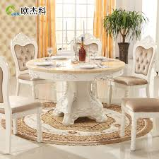 furniture classic wooden round dining table schemechairs also white round dining table set
