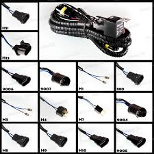 relay wiring harness hid xenon h1 h3 h4 h7 h10 h11 h13 880 9004 hid xenon digital relay harness w fuse anti flickering choose size above