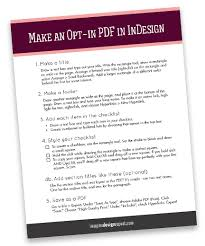 Make An Easy Opt In Checklist In Indesign