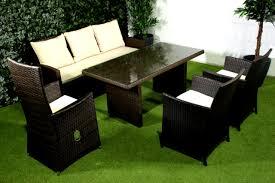 Siena Garden Esstisch Lounge Gruppe Corona Gardino Geflecht Eisgrau