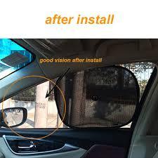 Online Shop ANN 2pcs Black Side <b>Car Sun</b> Shades Rear <b>Window</b> ...