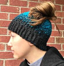 Free Crochet Pattern For Messy Bun Hat Inspiration Quick And Easy Messy Bun Hat Free Crochet Pattern Amanda Saladin