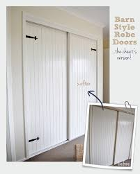 faux barn style door makeover