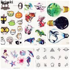симпатичные акварель мультфильм дизайн временные татуировки для детей дети