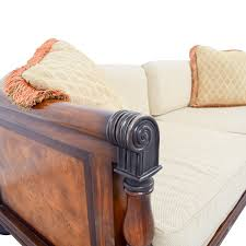 traditional wooden framed sofa