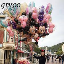 <b>1PC 175cm Mickey Minnie</b> Mouse Foil Balloons Pink Blue Standing ...