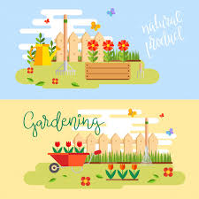 gardening and horticulture hobby tools vegetables crate and plants free vector