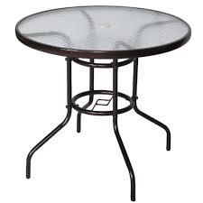 unic outdoor patio table round steel
