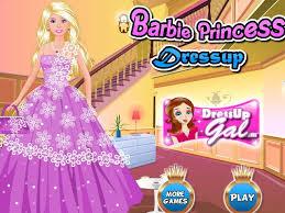 barbie princess dress up screenshot