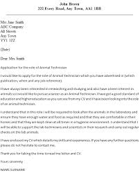 animal technician cover letter example tech cover letter