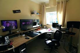 l shaped computer desks for home office masculine small design with desk and chair set