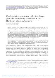 (PDF) Catalogues for an entropic collection: losses, gains and ...
