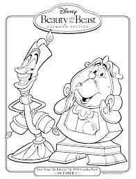 Coloring Pages Beauty And The Beast Beauty Beast Coloring Pages