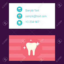 Professional Business Card Template For Dentists With Tooth Symbol