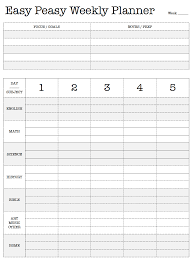 Free Printable. Easy Peasy Weekly Planner. Lesson Plan. Work Plan ...