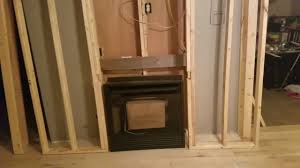 gas fireplace insert installation framing a wall for a gas heater