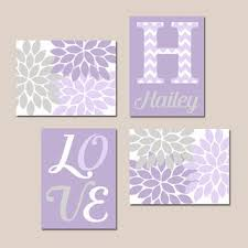 lilac lavender nursery baby girl wall art canvas or prints love on lavender wall art for nursery with shop lavender artwork on wanelo