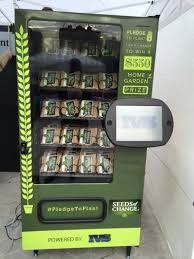 Twitter Powered Vending Machine Interesting SEEDS OF CHANGE PROMOTES PLEDGE TO PLANT TWITTER ENABLED VENDING