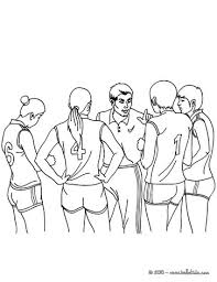 Volleyball Color Pages Volleyball Team Coloring Pages Hellokids Com