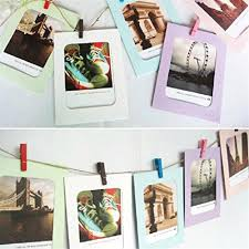 gotd wall decor diy paper photo picture frames 4x6 hanging frame set with 7pcs mini clothespins and long rope for living room bedroom 6 1