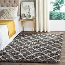 safavieh dallas dark grey ivory trellis rug 3 x 5