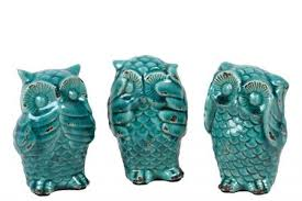 owl office decor. Sassy Styled Ceramic Owl Set Of Three Office Decor