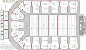 Detailed seat numbers row lettering concert chart with floor tiered balcony  layout Newcastle Metro Radio Arena