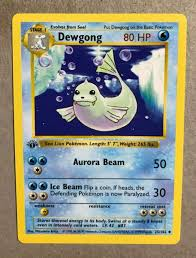 Uncommon Near Mint Pokemon 25/102 1st Edition Dewgong vieted.org.vn