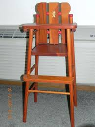 antique wooden doll high chair teach n fun doll highchair red beads and bunny decal lift