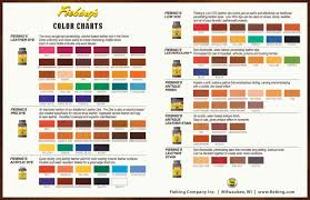 Coral Paint Color Chart Color Charts Dyes Stains Antiques Shop For Leather Care