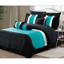 teal queen bedding. Beautiful Teal 11Piece Oversized Teal Blue U0026 Black Comforter Set Bedding With Sheet  Queen For 8