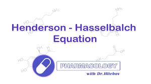 Henderson Hasselbalch Henderson Hasselbalch Equation Medical Blog Drhliebov