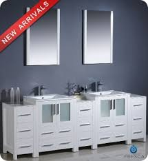 Modern double sink vanity Makeup Area 84 Vanities For Less 84