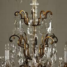 Kronleuchter Glas Kristall Italien 20 Jahrhundert