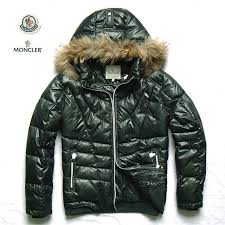 mens down jackets with fur hood green moncler no 1945