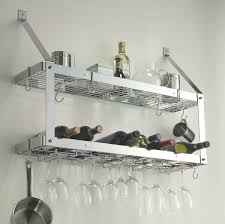 brilliant wine glass rack for wall wall mounted wine glass rack modern kitchen design with