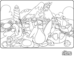 Small Picture Club Penguin Coloring Pages GetColoringPagescom