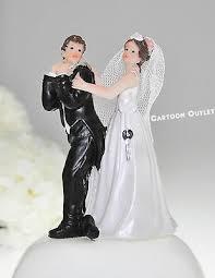 Wedding Couple Figurine Bride And Groom Lock Resin Bridal Cake