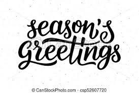 seasons greetings clip art black and white. Simple Art Seasons Greetings Calligraphy Lettering Text  Csp52607720 Intended Greetings Clip Art Black And White W