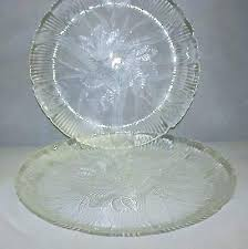 clear glass dinnerware dinner plate set plates crocus of 2 whole lead free clear glass dinnerware