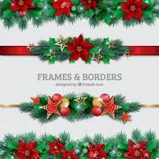 Christmas Photo Frames Templates Free Christmas Borders Set Vector Free Download