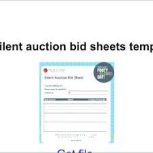 Silent Auction Bid Sheet Template Word Silent Auction Bid Sheet Template Word 3103431200036 Free Bid