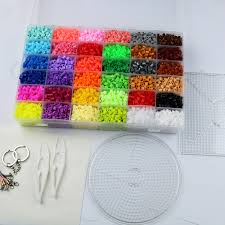 craft toys picture more detailed picture about 5mm hama beads 36 5mm hama beads 36 colors 12 000pcs box set 1 big template 5iron papers