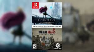 Child Of Light Ultimate Edition Switch Physical Child Of Light Valiant Hearts Physical Edition Also