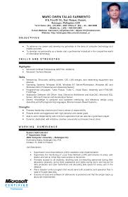 Sample Resume Philippines Resume Online Builder