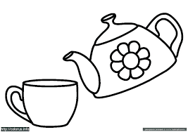 Cup Coloring Page Coffee Pages Teacup Mtkguideme