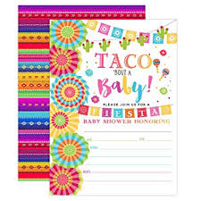 Fiesta Baby Shower Invitation Taco Baby Shower Taco Bout A Baby Shower Invite Fiesta