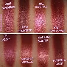 Cranberry/marsala swatches: <b>Anastasia Beverly Hills sangria</b> ...