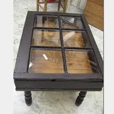 vintage window coffee table